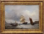 A. W. Harrison British Late 19th Century Marine Painting