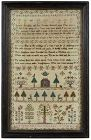 Fine George III Needlework Sampler, signed and dated 1801