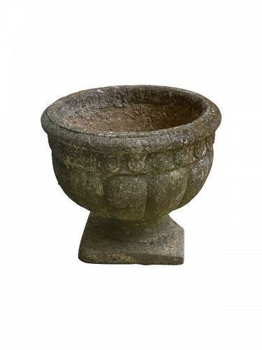 Cast Stone Lobed Garden Urn, ca. 1930