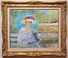 Elegant Woman enjoying an Afternoon in Paris by George Shawe