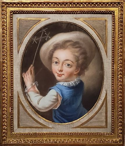 Portrait of a Boy is a French School 18th Century Pastel Painting