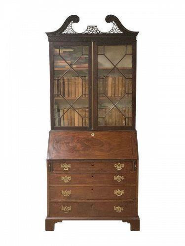 George III Mahogany Secretary Bookcase, Circa 1785.