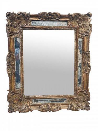 Louis XV Carved Giltwood Mirror, circa 1765.