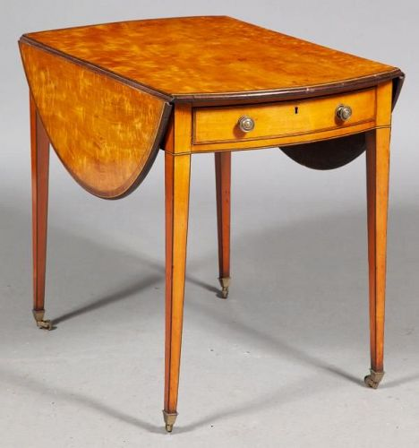 George III Oval Satinwood Pembroke Table, ca. 1790-1800