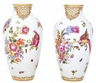 Pair of English Chelsea Porcelain Vases from the 18th Century