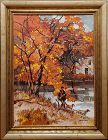 Impressionist Landscape Hunting Scene by Hugh Campbell (1905 - 1997)