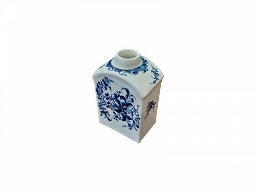 Dr. Wall Worcester Porcelain Tea Caddy, circa 1780