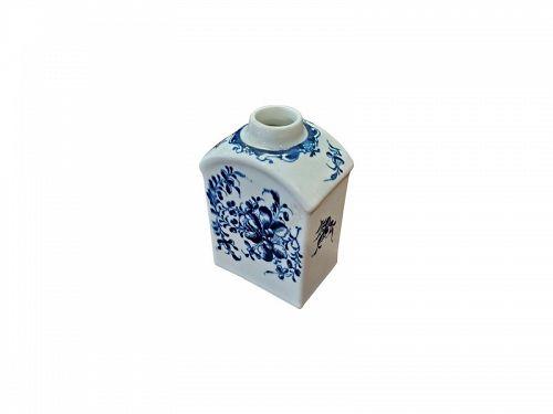 Dr. Wall Worcester Porcelain Tea Caddy, circa 1780