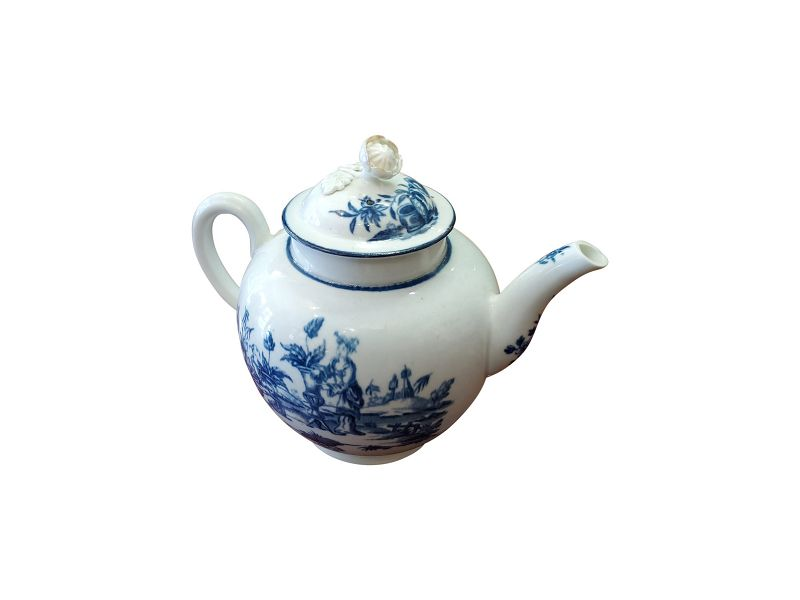 Dr. Wall Worcester Period Teapot, English circa 1760