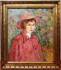 Michael Lemmermeyer, American 1891-1970  Impressionist Portrait