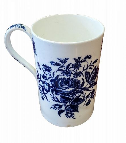 Dr. Wall Worcester Porcelain Tankard, late 18th C.