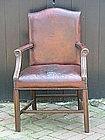 George III-Style Library Armchair
