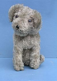 British Stuffed Mohair Dog, early 20th C.
