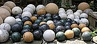 Large Group of Marble Carpet Balls