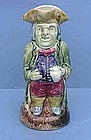Pearlware Toby Jug, probably Pratt, circa early 19th C