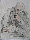 Janz? Late 19th C Drawing of a Man