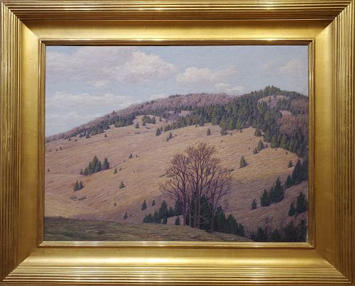 Mountain Landscape signed by Andrew T. Schwartz, American 1867-1942.