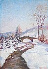 European School Winter Landscape, circa 1920's