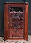 George III Mahogany Hanging Corner Cupboard, Ca. 1790