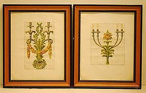 After Gio. Albertolli, It. 18th C  Pair Engravings