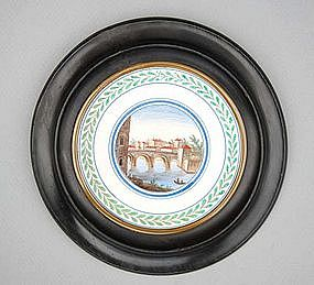 Framed Italian Pottery Tile, late 18th C