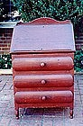 Federal Red-Painted Desk, Circa 1825.
