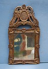 French Regence Giltwood Mirror, early 18th C.