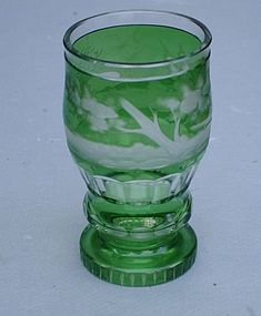 Bohemian Cut Glass Beaker, late 19th C.