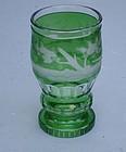 Bohemian Cut Glass Beaker, late 19th C.
