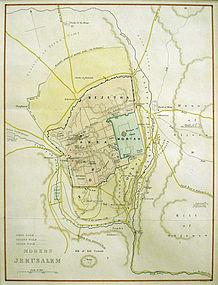 W. Hughes, Modern Jerusalem, c. 1840's - 1860's