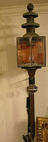 Copper and Brass Lantern, 19th C, later electrified