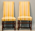 Pair of Continental Baroque Oak Chairs, early 18thC