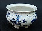 Chinese Porcelain Blue and White Incense Burner