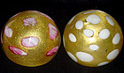 Murano BAROVIER TOSO Gold Flecks Spots Paperweights