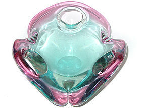 Murano SEGUSO Sommerso PINK BLUE FORATO Bowl