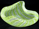 RARE ARCHIMEDE SEGUSO Yellow ZANFIRICO Ribbons Bowl