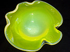 Murano TOSO Yellow Opalescent MANTA RAY Bowl