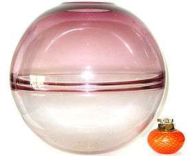 RARE Murano BARBINI Fully Signed Incalmo SPHERE VASE