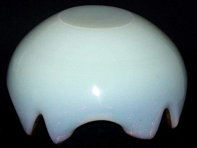Murano BARBINI OPAL Aventurine Flecks Scissor Cut Bowl