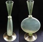 Antique Venetian GOLD FLECKS Flat Body SPECIMEN Vase