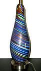 Murano TOSO Aventurine PSYCHEDELIC Optic Swirl Lamp
