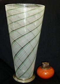 Murano MARTENS Aureliano TOSO Cone Shape Filigrana Vase
