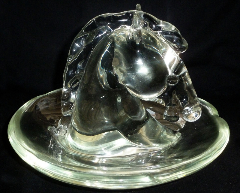 Murano ARCHIMEDE SEGUSO HORSE HEAD Sculptural Bowl Dish