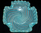 FRATELLI TOSO Murano ZANFIRICO Ribbons BLUE Candy Bowl