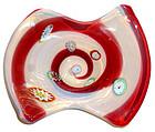 FRATELLI TOSO Murano OPAL Millefiori RED Optic Bowl