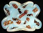 TOSO Murano ZANFIRICO Ribbons OPAL Butterfly Shape Bowl