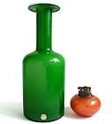 DANISH MODERN Otto Brauer HOLMEGAARD 1960s Green Vase
