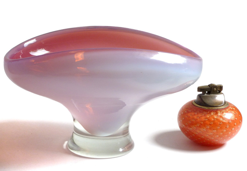 CENEDESE Murano OPAL PINK Sensual Center Bowl Compote
