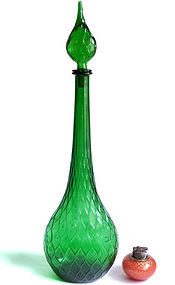 GUILDCRAFT Jewel Green Architectural Floor Decanter
