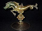 RARE Venetian SALVIATI 1890's Gold Flecks SEA HORSE
